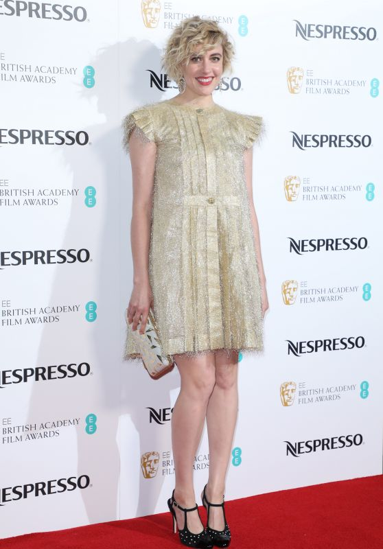 Greta Gerwig – British Academy Film Awards Nominees Party in London