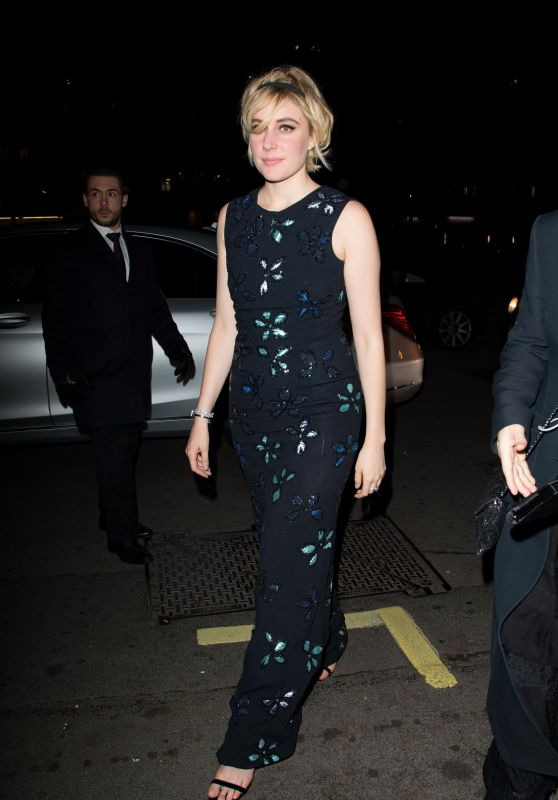 Greta Gerwig – Vogue and Tiffany & Co BAFTA Afterparty in London
