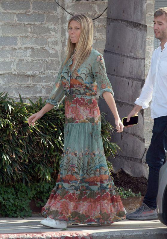 Gwyneth Paltrow in Boho Chic Dress in Los Angeles