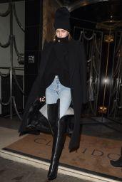 Hailey Baldwin Style - Leaving Claridge Hotel in London 02/19/2018