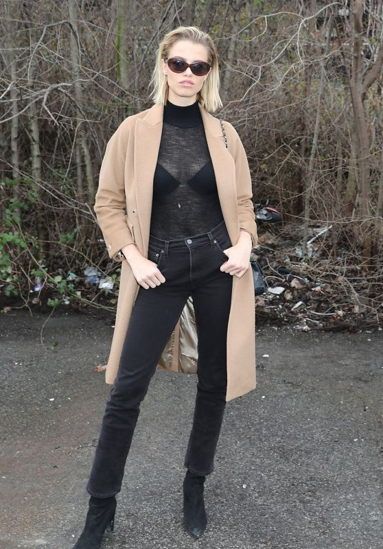 Hailey Clauson - Arrives at Roberto Cavalli Show in Milan 02/24/2018