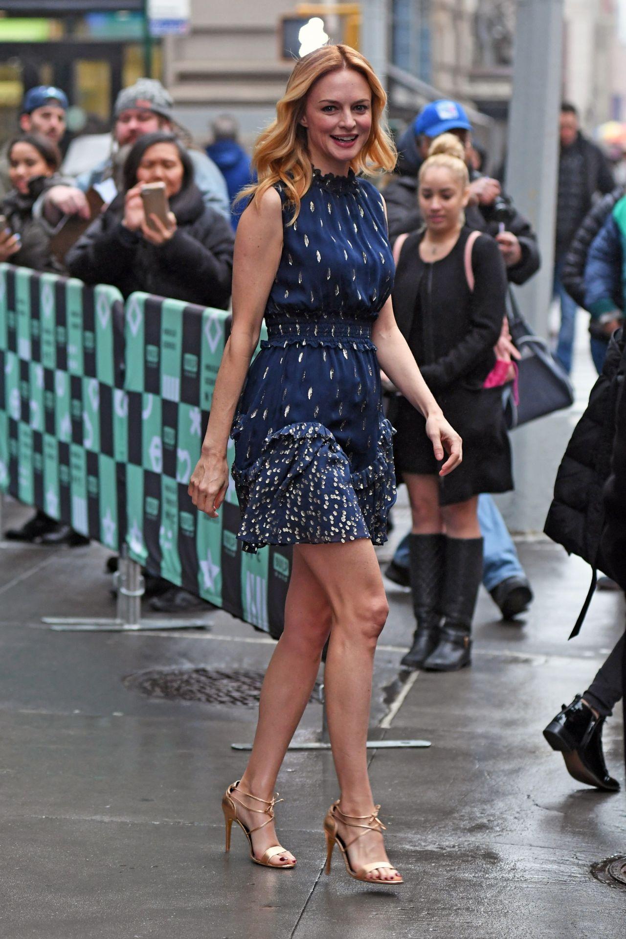 Heather Graham In Mini Dress At Build Series In Manhattan