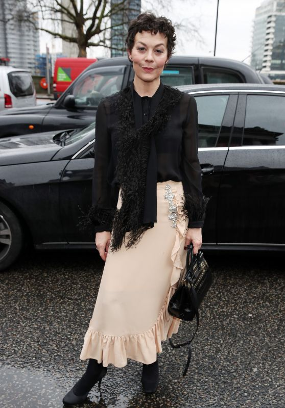 Helen McCrory – Arriving to Christopher Kane Show at LFW 02/19/2018