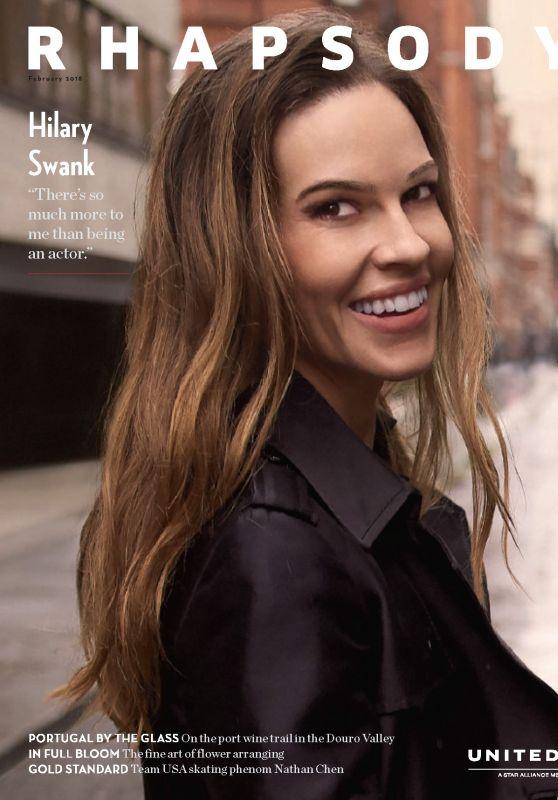 Hilary Swank - Rhapsody Magazine February 2018