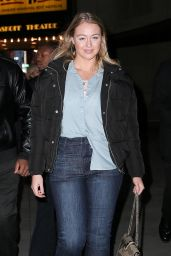 Iskra Lawrence in Casual Outfit Leaving the TRL Studios in NY