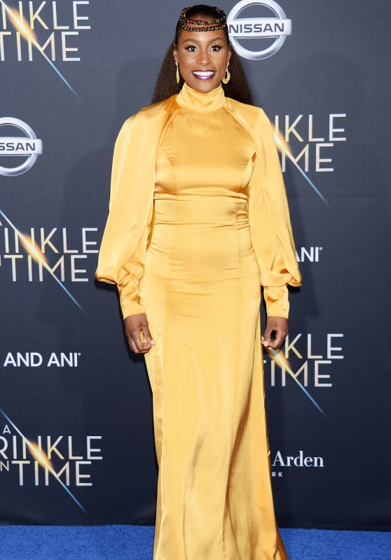 """Issa Rae – """"A Wrinkle in Time"""" Premiere in Los Angeles"""