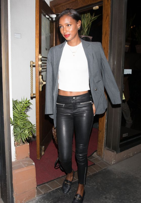Jasmine Tookes at Madeo Restaurant in West Hollywood 02/27/2018