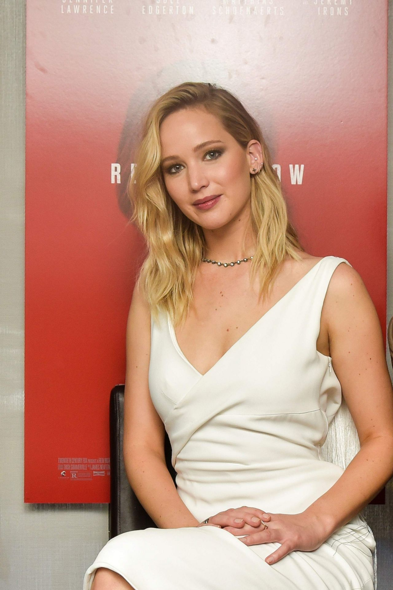 """Jennifer Lawrence - """"Red Sparrow"""" Luncheon at Cafe Milano ..."""