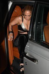 Jennifer Lopez Night Out - Casa Tua Restaurant in Miami