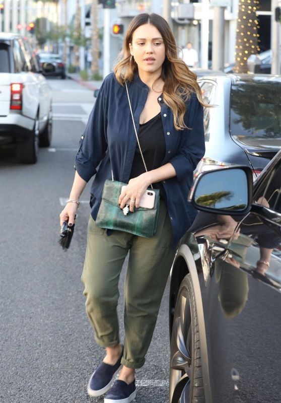Jessica Alba - Leaving a Business Lunch in Beverly Hills