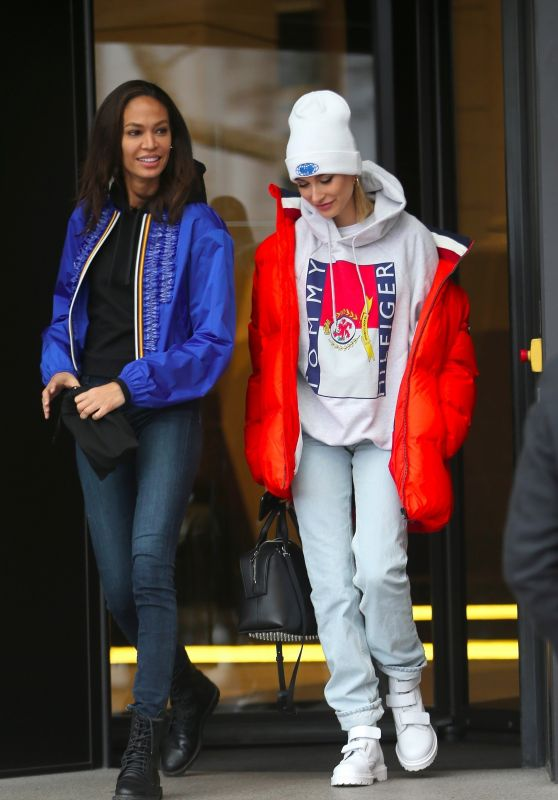 Joan Smalls and Hailey Baldwin Out in Milan, Italy 02/25/2018