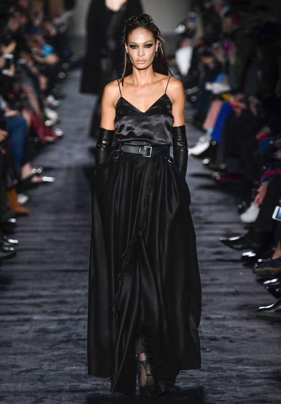 Joan Smalls Walks Max Mara Fashion Show in Milan 02/22/2018