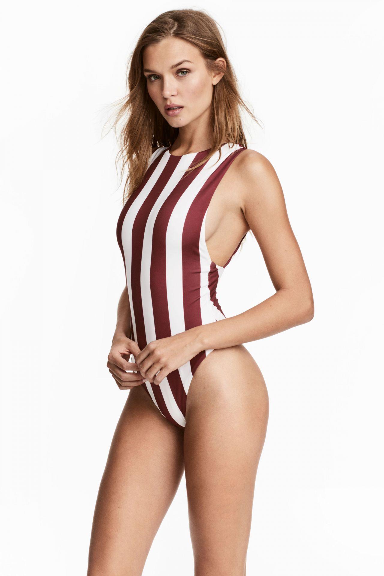 Josephine Skriver in H&M Swimwear Photoshoot