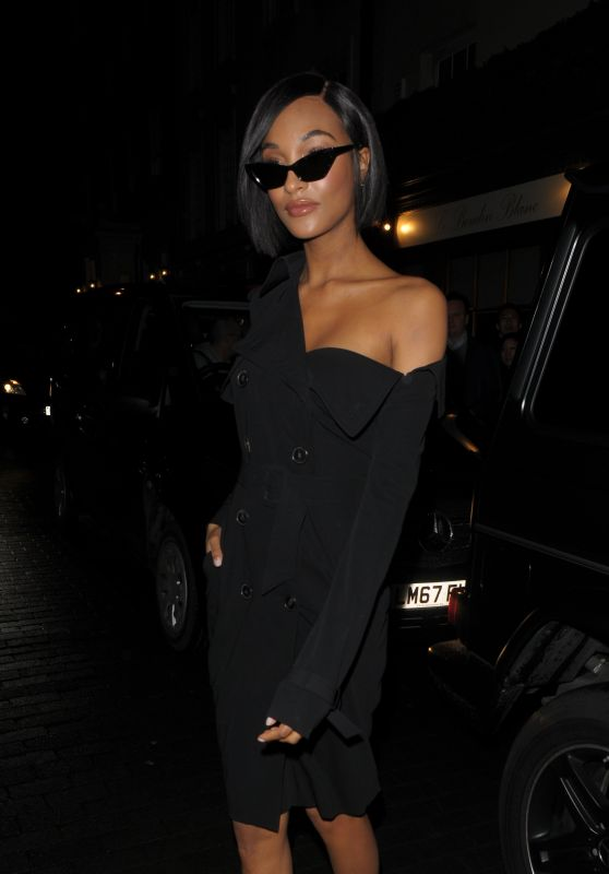 Jourdan Dunn Night Out Style - Arrives at Miu Miu Women
