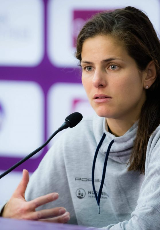 Julia Goerges 2018 Wta Qatar Open In Doha Press Conference