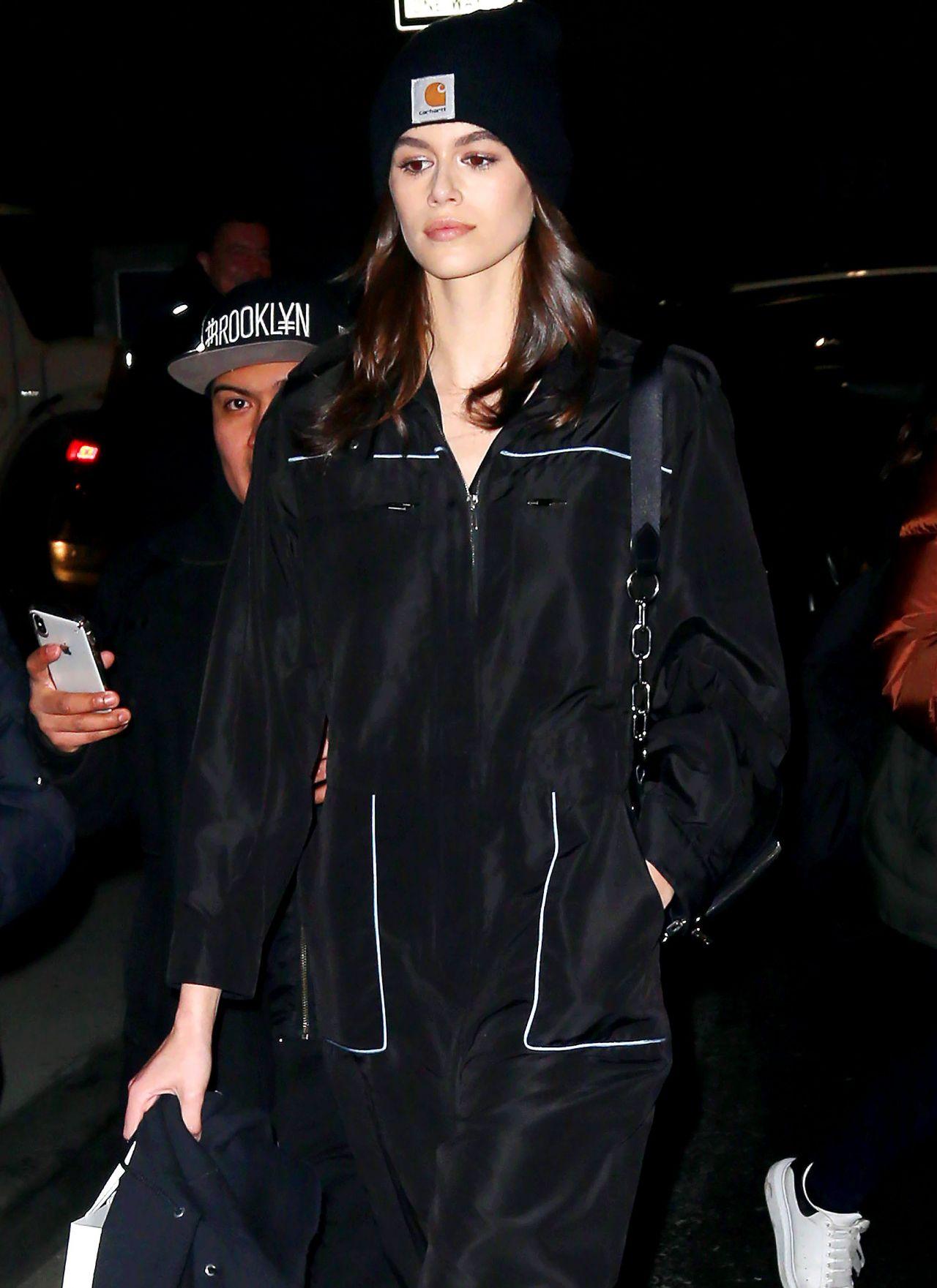 26bd980a39c7 Kaia Gerber Leaving Calvin Klein Show in NYC 02 13 2018