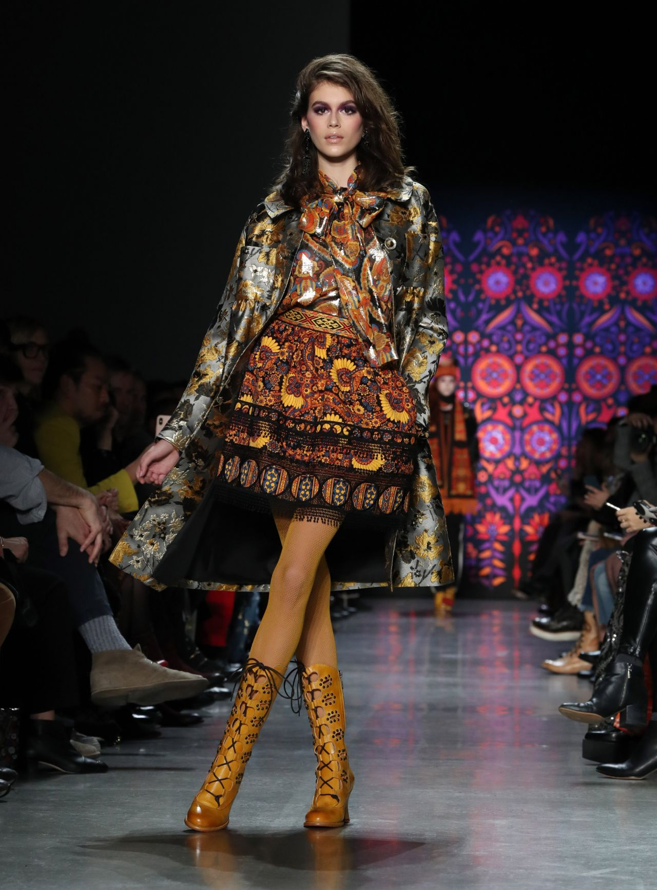 Fhions: Kaia Gerber Walks Anna Sui Fashion Show In NYC