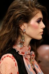 Kaia Gerber Walks Anna Sui Fashion Show in NYC