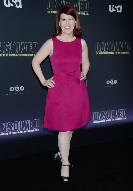 """Kate Flannery – """"Unsolved The Murders of Tupac and The Notorious B.I.G."""" TV Show Premiere in LA"""