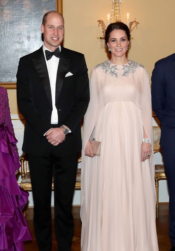 Kate Middleton and  Prince William - Dinner at the Royal Palace in Oslo