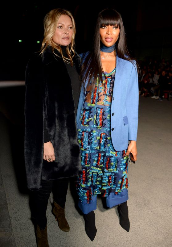 Kate Moss and Naomi Campbell – Burberry Show, LFW 02/17/2018