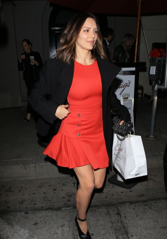 Katharine McPhee in Red Dress at Craig