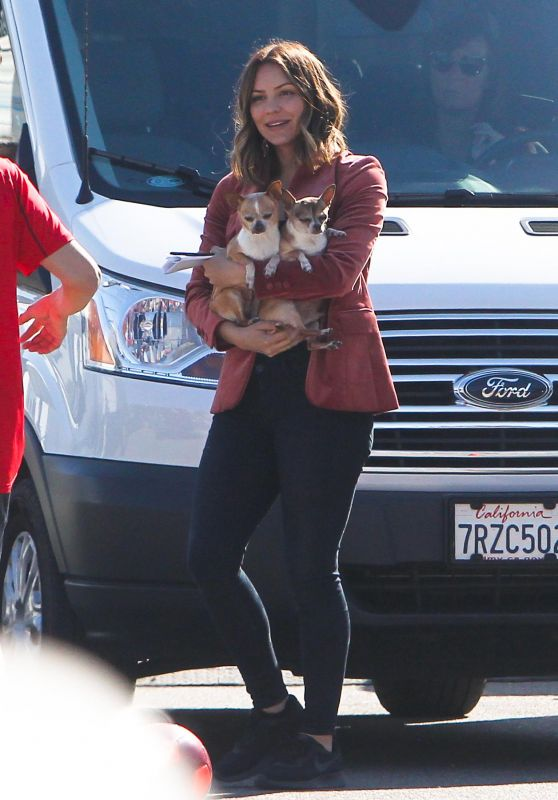 Katharine McPhee With Her Dogs - Los Angeles 02/15/2018
