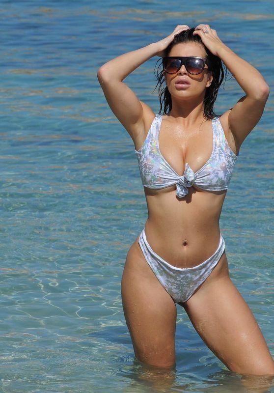 Katie Salmon in Bikini on the beach in Cape Verde 02/12/2018