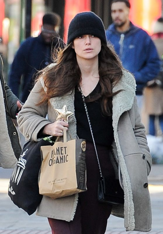 Keira Knightley in Casual Outfiit in North London, February 2018