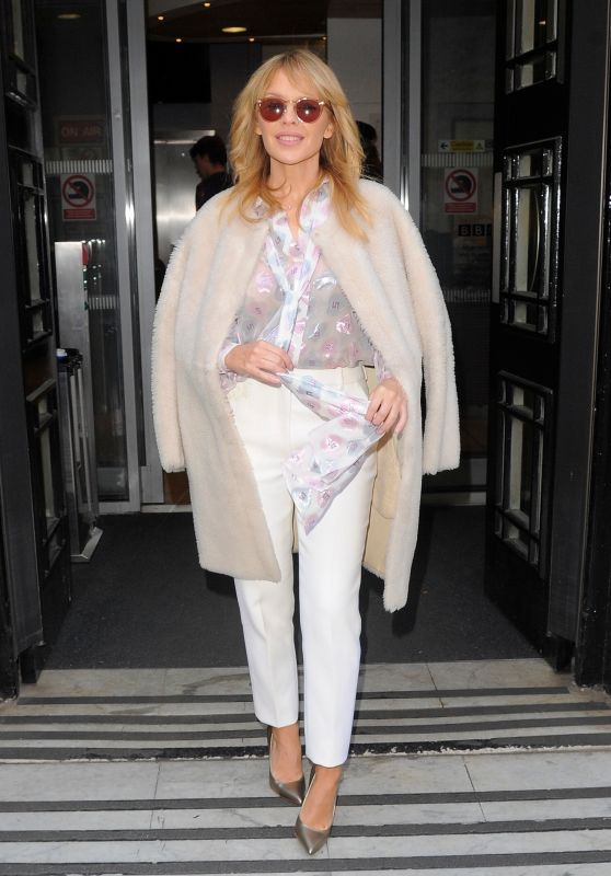 Kylie Minogue - Leaving the BBC Radio 2 Studios in London 02/24/2018