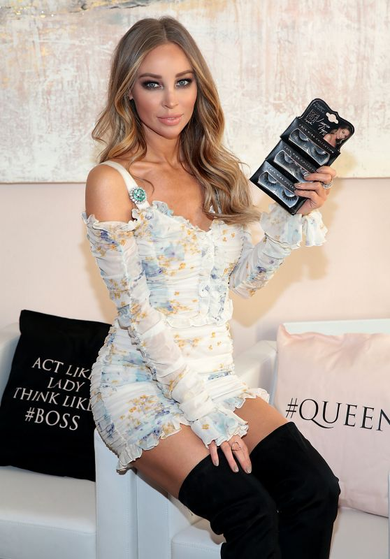 Lauren Pope at Launch of the SOSU By SJ Lauren Pope Faux Mink Lash Collection in Dublin