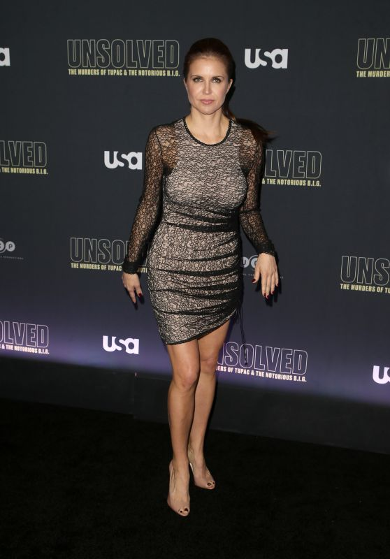 "Laurie Fortier – ""Unsolved The Murders of Tupac and The Notorious B.I.G."" TV Show Premiere in LA"