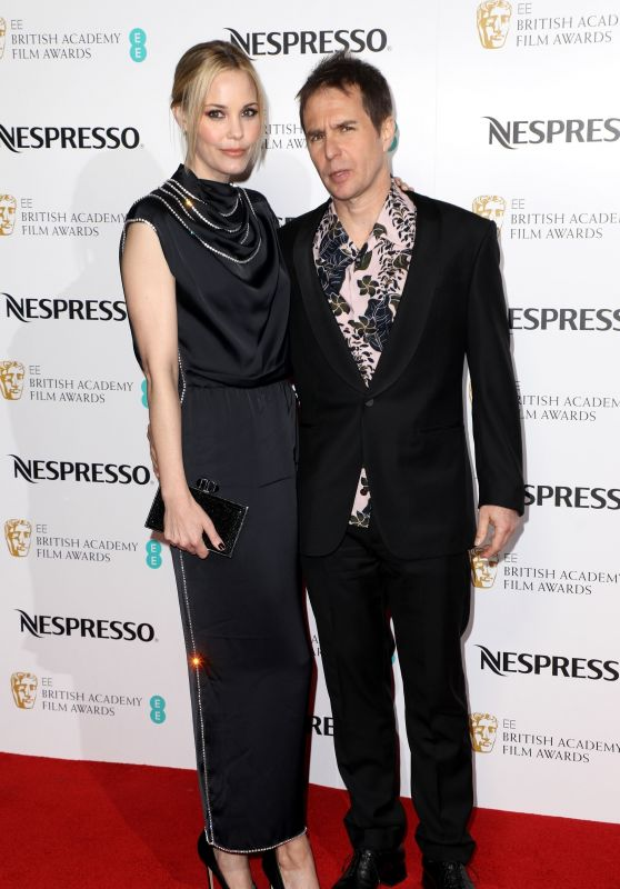 Leslie Bibb and Sam Rockwell – British Academy Film Awards Nominees Party in London