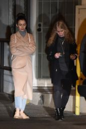 Lily Collins - Heads to La Dolce Vita Restaurant in Beverly Hills