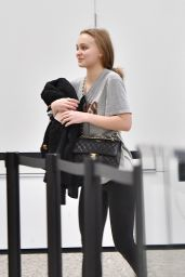 Lily-Rose Depp - Making a Early Morning LAX Departure 02/18/2018