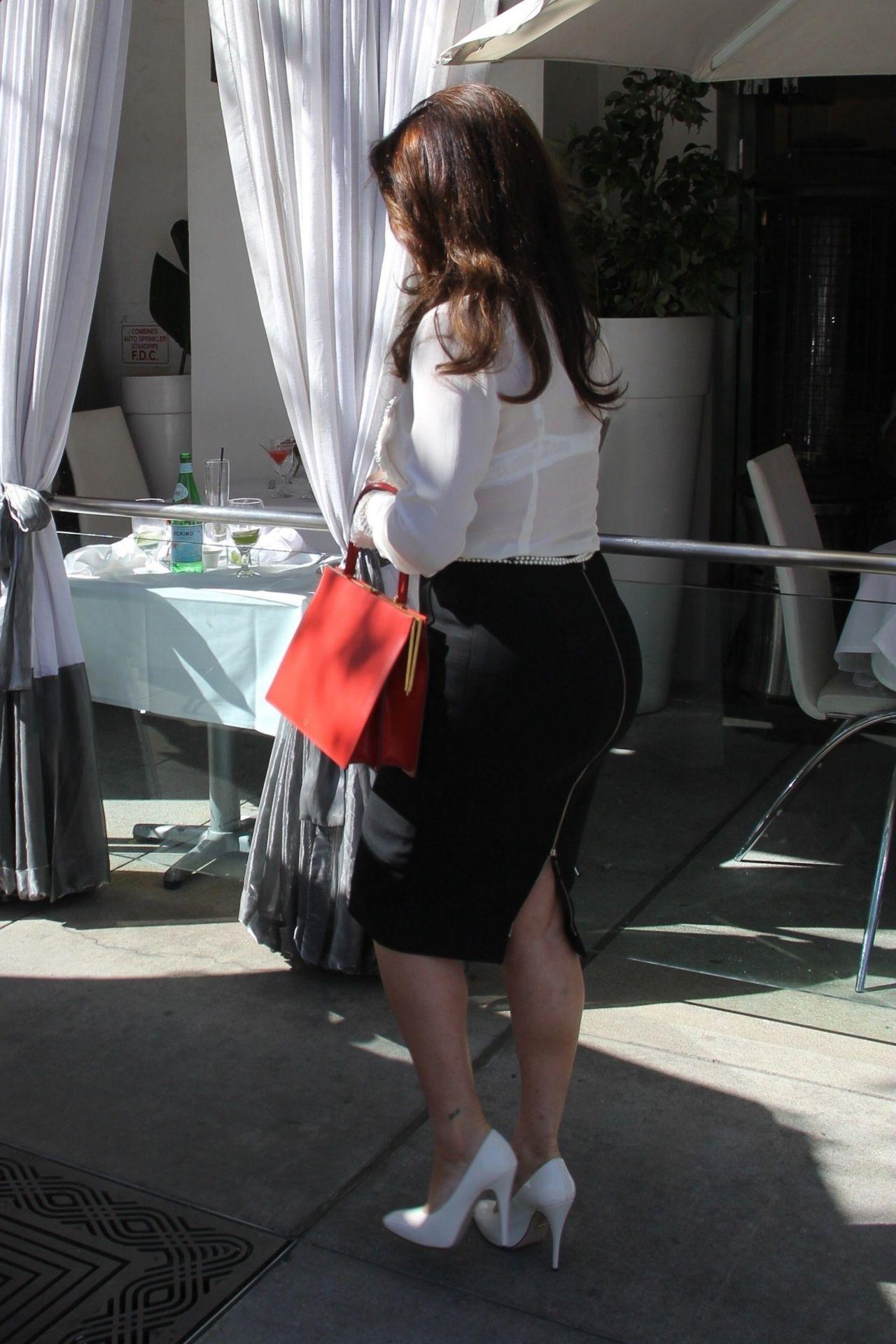 Lisa Vanderpump At Villa Blanca Restaurant In Beverly Hills