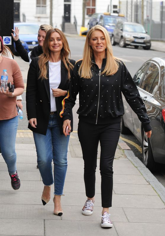 Louise Redknapp, Kimberley Walsh, Alesha Dixon and Tess Daly - Filming Secret Project in London 02/23/2018
