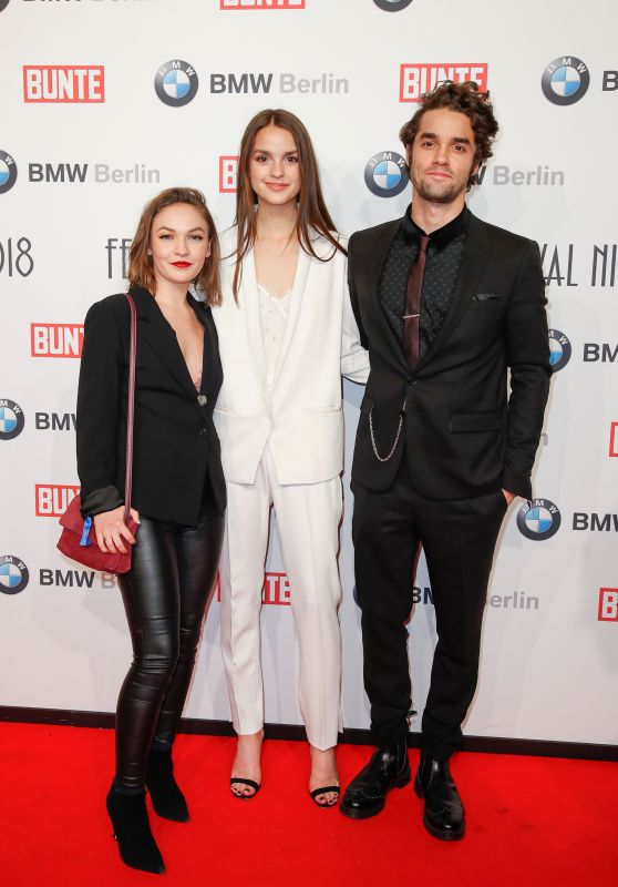 Luise Befort and Emma Drogunova – BUNTE & BMW Host Festival Night, Berlinale 2018