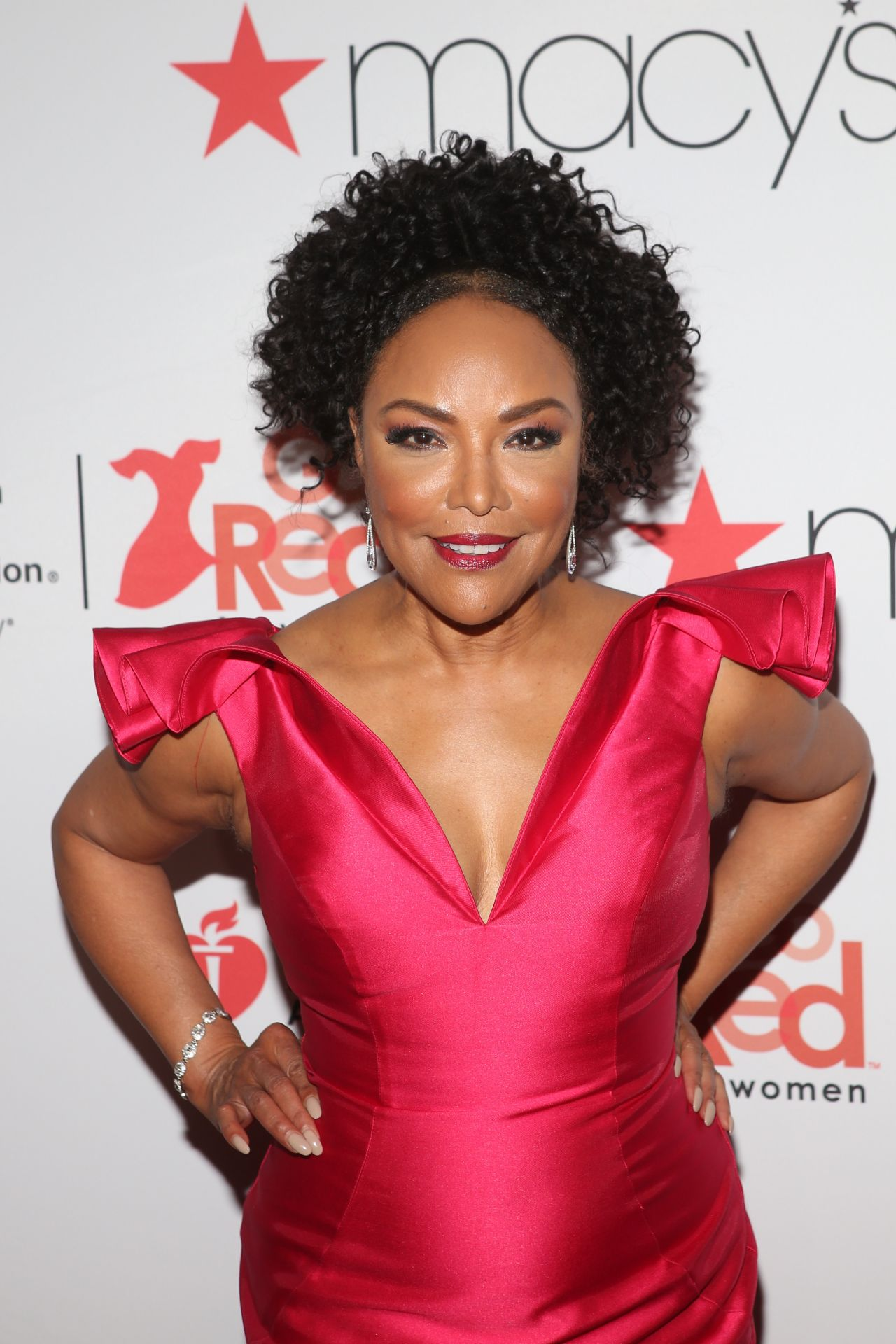 e9e26235115 Lynn Whitfield – NYFW Red Dress Collection 2018