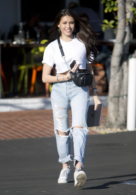 Madison Beer in Ripped Jeans - Leaving Fred Segal in West Hollywood 02/15/2018