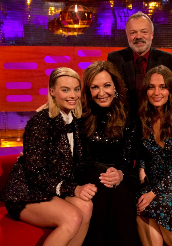 Margot Robbie, Allison Janney, Alicia Vikander, Daniel Kaluuya, and Camila Cabello - Graham Norton Show in London