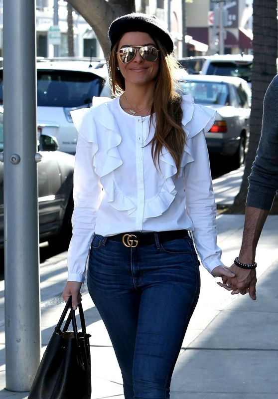 Maria Menounos Shopping in Beverly Hills 02/07/2018