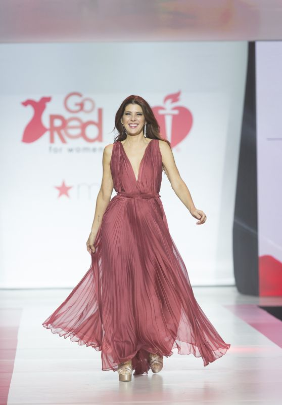 Marisa Tomei Walks Runway for Red Dress 2018 Collection Fashion Show in NYC
