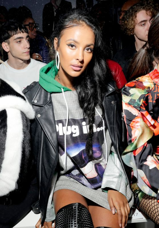 Maya Jama – Philipp Plein Show Fall Winter 2018 at NYFW