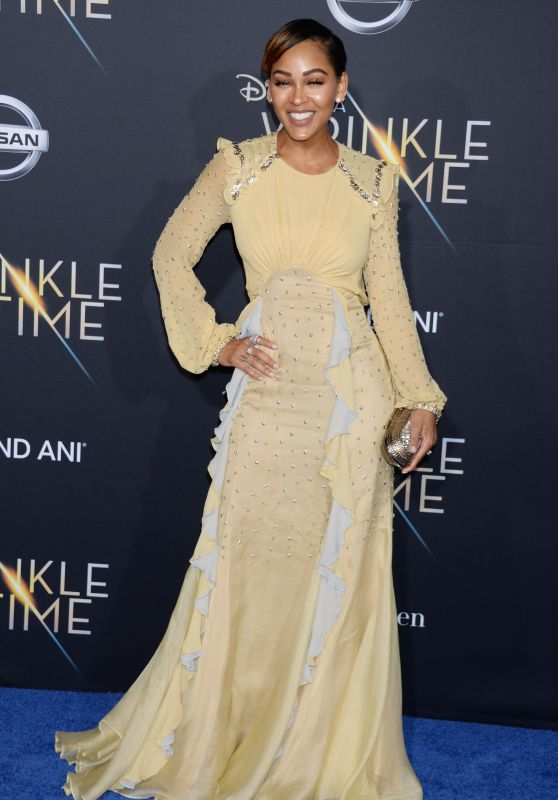"Meagan Good – ""A Wrinkle in Time"" Premiere in Los Angeles"