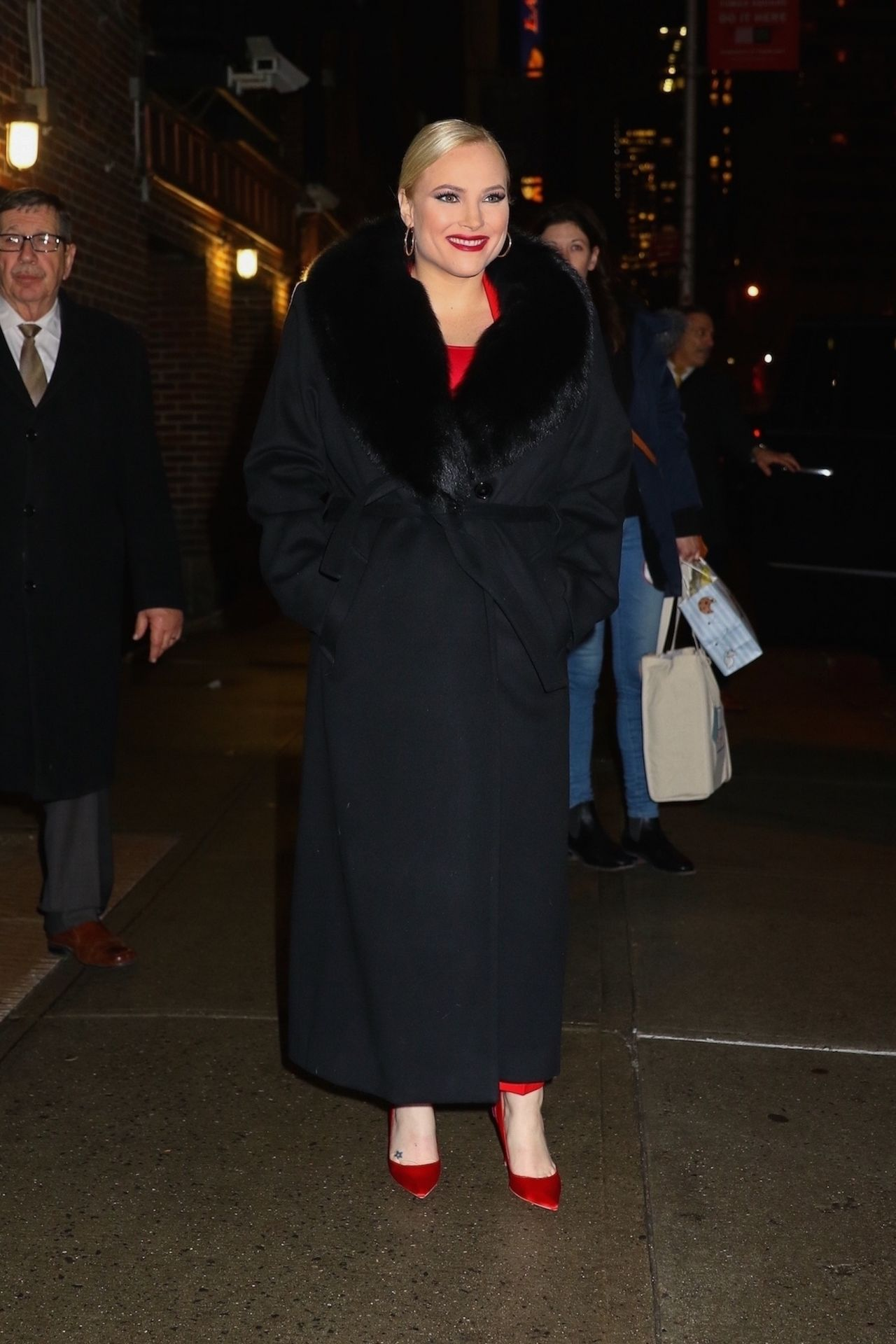 Meghan McCain Leaves The Late Show With Stephen Colbert