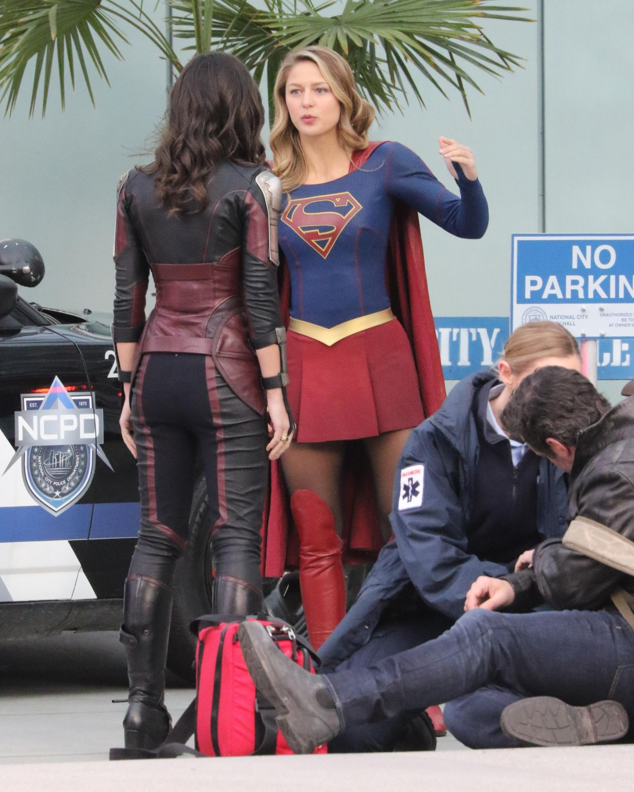 "Filming ""Supergirl"" In Vancouver 02/13/2018"