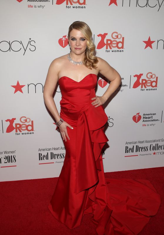 Melissa Joan Hart – NYFW Red Dress Collection 2018