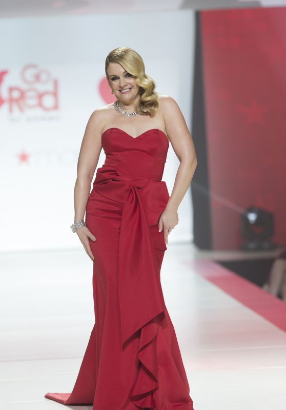 Melissa Joan Hurt Walks Runway for Red Dress 2018 Collection Fashion Show in NYC