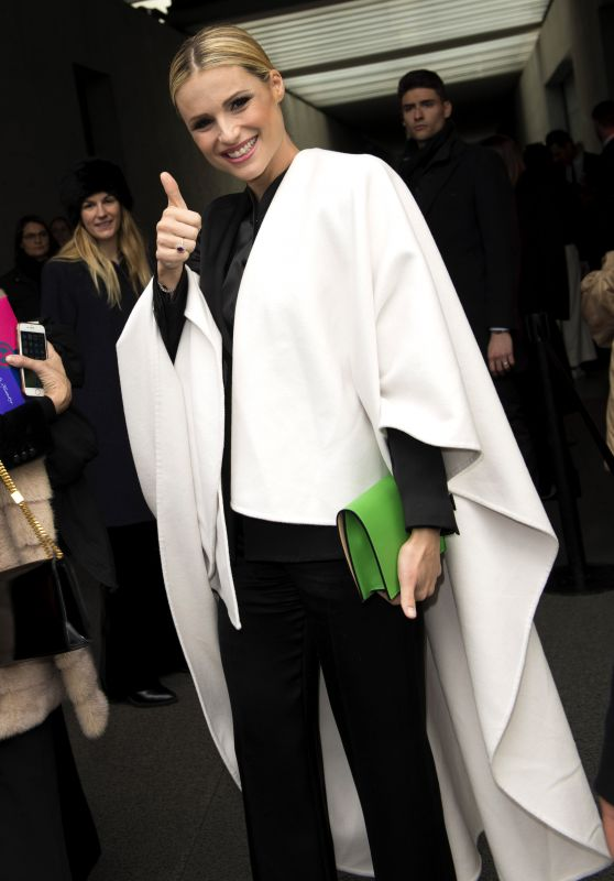 Michelle Hunziker at Armani Fashion Show in Milan 02/24/2018